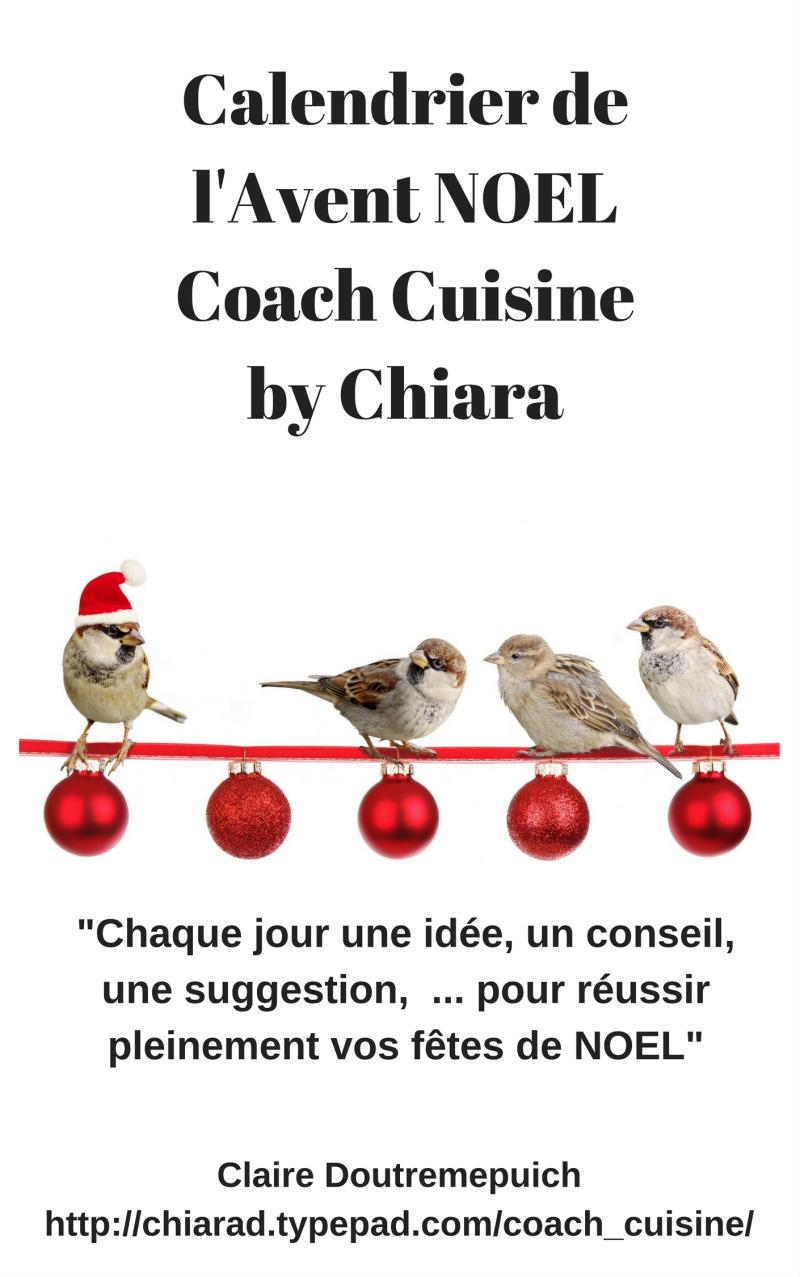 Calendrier de l'Avent NOEL Coach Cuisine by Chiara (1)