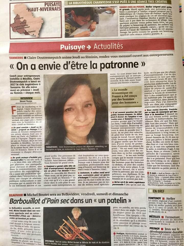 JAF dans Yonne Republicaine 2018 02 22