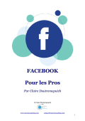 E Book Claire Doutremepuich Facebook pour les Pros